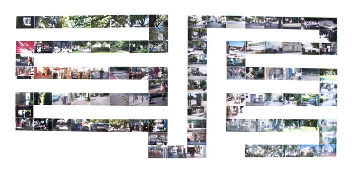 Montage der Bildabfolge für die Slideshow