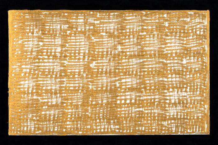 Vorbereitende Skizze zur Mulden-Installation. Lackstift auf Karton, 20 x 30 cm.