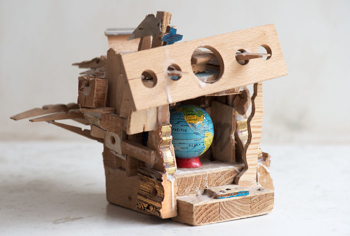 Globus im Raumschiff