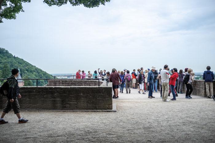 Der Kôsô Entotsu vom Heidelberger Schloss aus gesehen. Foto: P. Bösselmann
