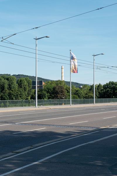 Der Kôsô Entotsu in Heidelberg, von der Walzbrücke aus gesehen
