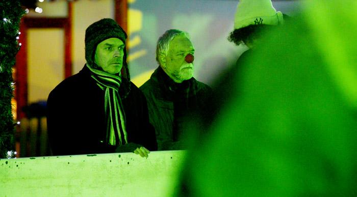 Peter Gutsche (N.) und Max Geiger (Clown 1)